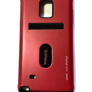 Red ipocket case for Samsung G Note4